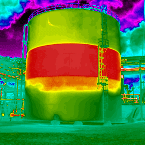 Thermal image of silo